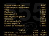 Carta digital QR 555 - CERVEZAS - VINOS